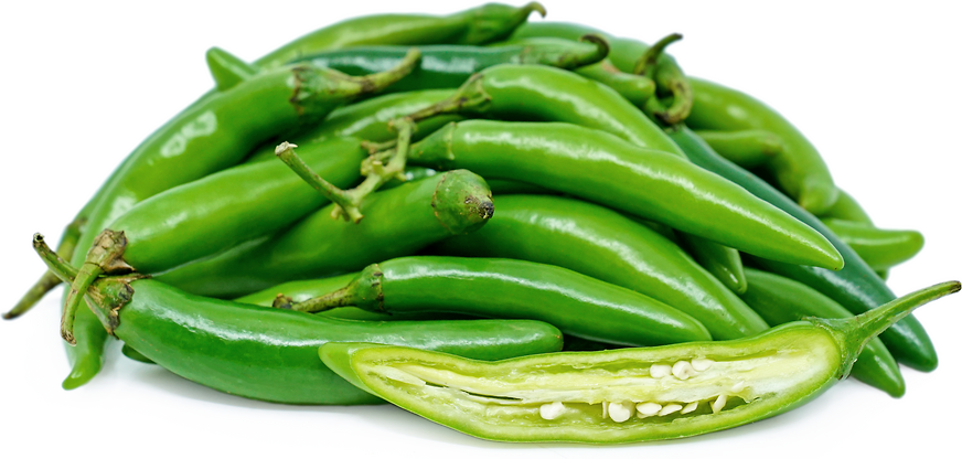 Green Serrano Chile Peppers picture